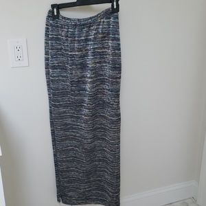 Ecote multi color skirt with slip